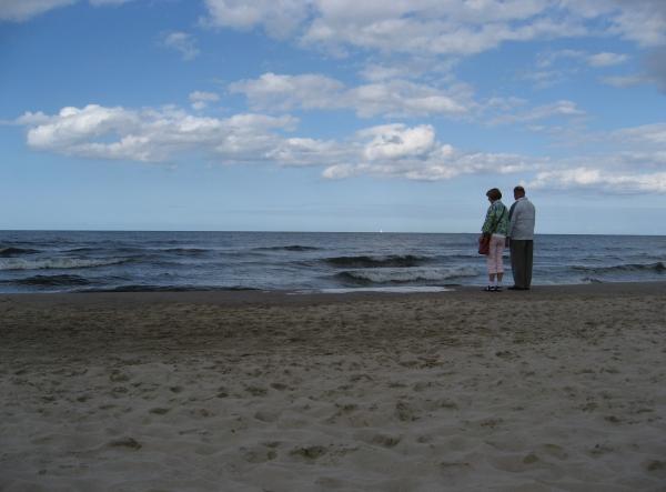 Nicht sehr rauh, dieses Meer