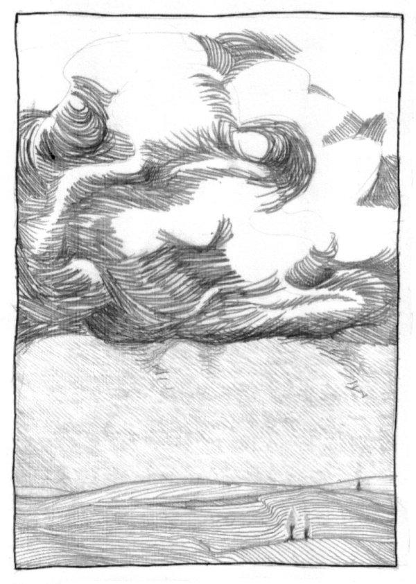 Zeichnun: Unwetter