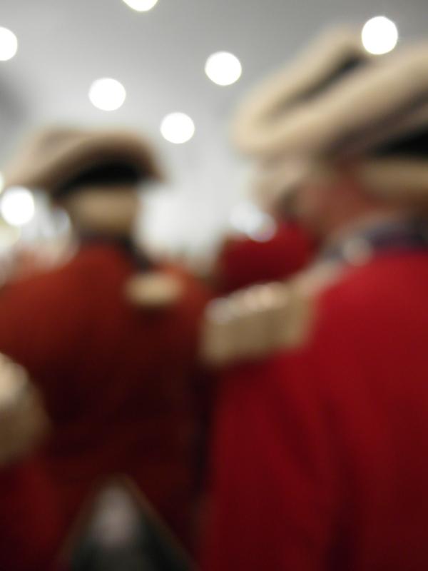 Verschwommene Vorstellung: schicke Uniformen!